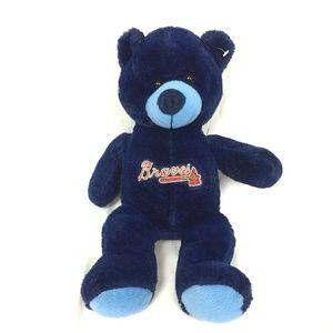 Atlanta Braves Plush Bear Embroidered Logo MLB